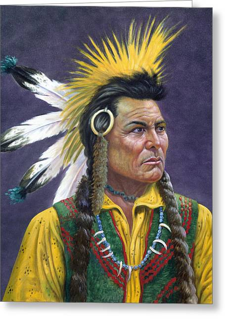 Dignity Greeting Cards - Tecumseh Greeting Card by Gregory Perillo