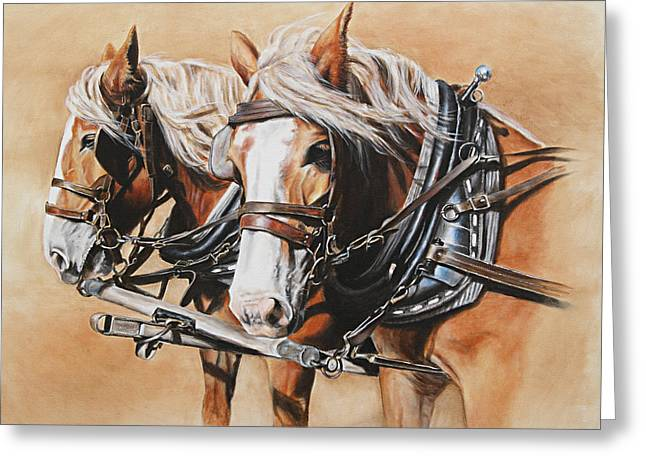John Wayne Art Greeting Cards - Ted and Tom Greeting Card by Kim Lockman