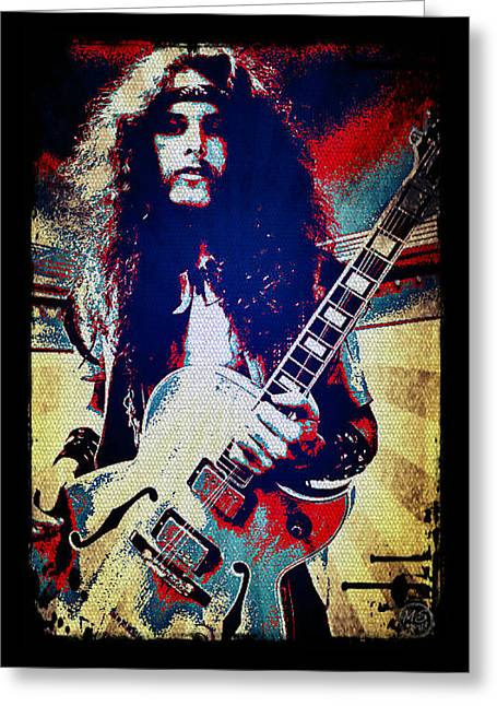 Eat Free Greeting Cards - Ted Nugent - Red White and Blue Greeting Card by Absinthe Art By Michelle LeAnn Scott