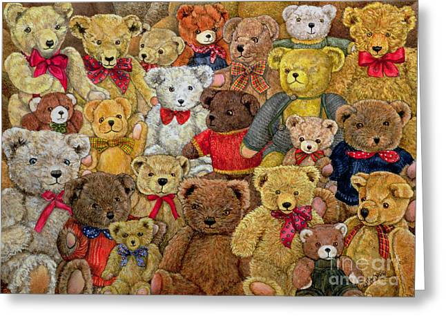 Child Toy Greeting Cards - Ted Spread Greeting Card by Ditz