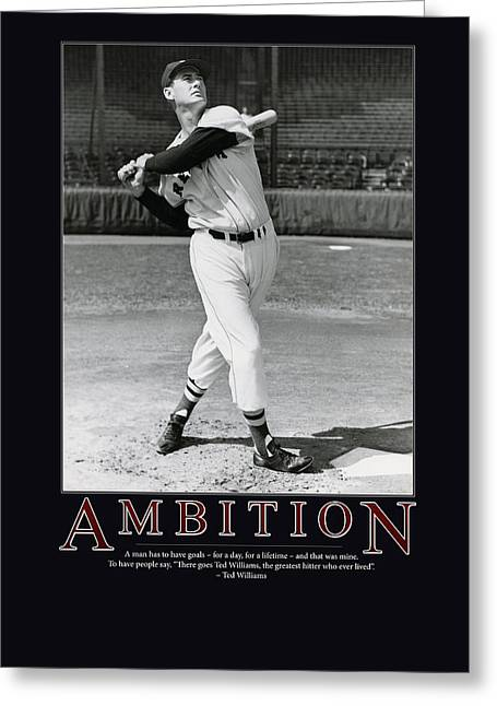 Antique Pictures Greeting Cards - Ted Williams Ambition Greeting Card by Retro Images Archive