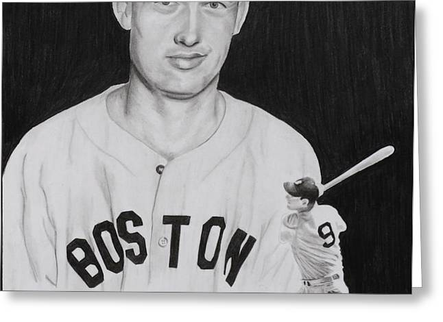 Ted Williams Greeting Card by Billy Burdette