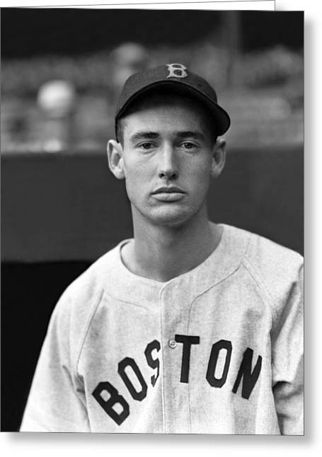 League Greeting Cards - Ted Williams Rookie Greeting Card by Retro Images Archive
