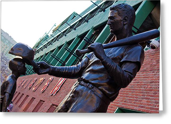 America Pastime Greeting Cards - Ted Williams Statue Greeting Card by John McGraw