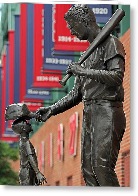Press Box Greeting Cards - Ted Williams Tribute Greeting Card by Juergen Roth