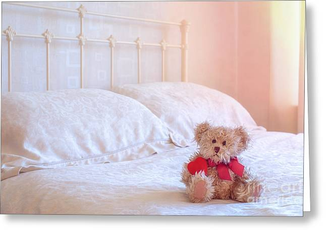 Valentines Day Greeting Cards - Teddy Bear Greeting Card by Amanda And Christopher Elwell