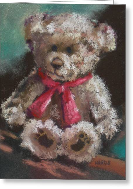 Juvenile Decor Pastels Greeting Cards - Teddy Bear Greeting Card by Janice Harris