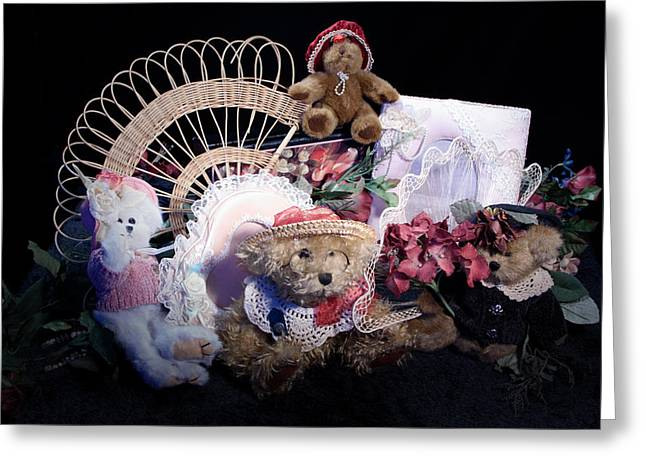 Baby Room Greeting Cards - TEddy bear love Greeting Card by Camille Lopez