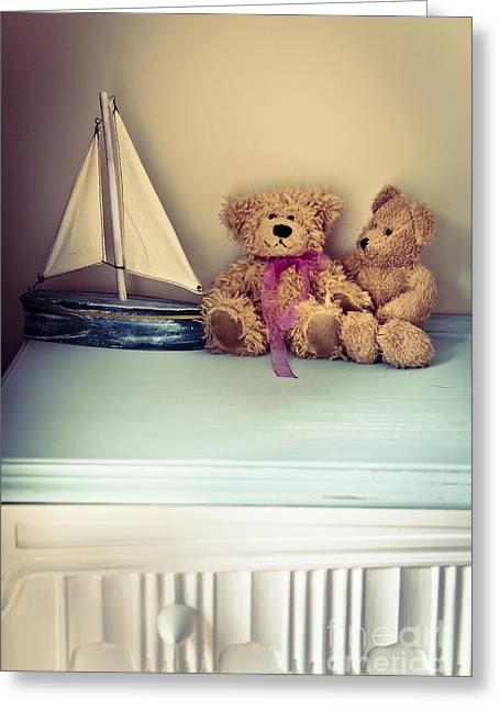 Toy Boat Greeting Cards - Teddy Bears Greeting Card by Jan Bickerton