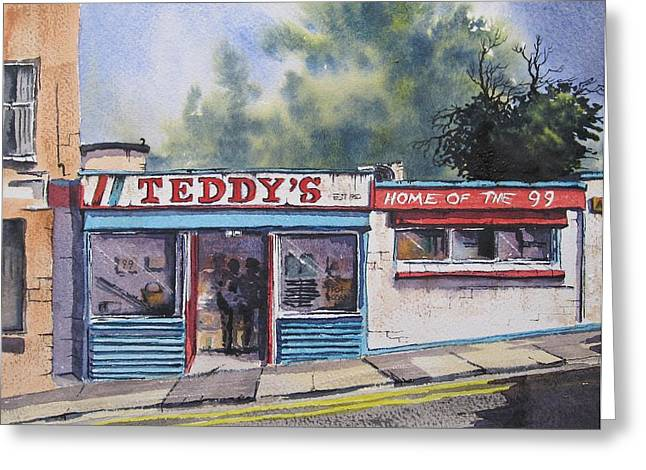 Southside Paintings Greeting Cards - Teddys Greeting Card by Roland Byrne