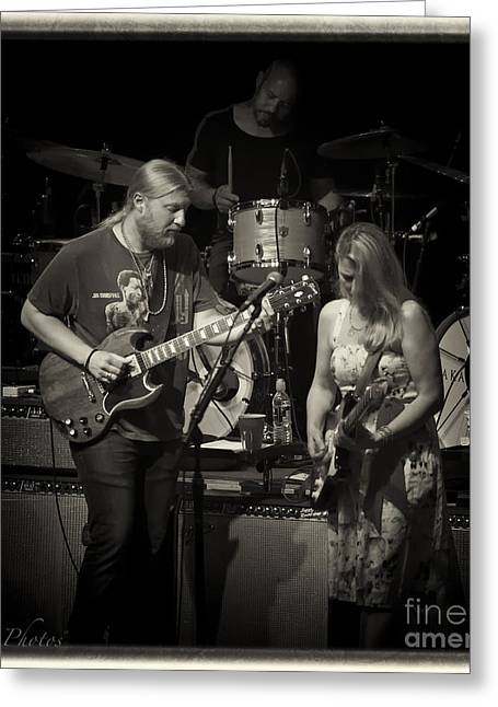 Recently Sold -  - Jacksonville Greeting Cards - Tedeschi Trucks Band Greeting Card by Christopher Cutter