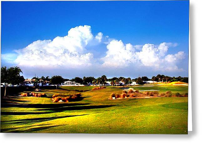 Masters Golf Photos Greeting Cards - Tee Time Greeting Card by Dennis Dugan