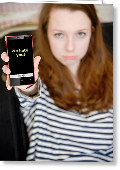 Teenage Cyberbullying Greeting Card by Aj Photo