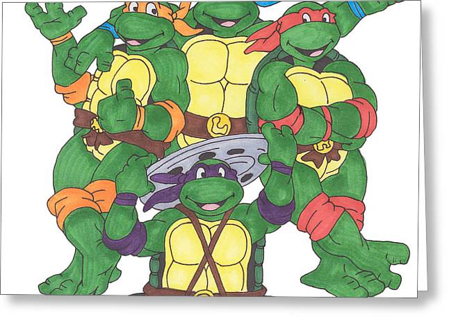Michelangelo Greeting Cards - Teenage mutant ninja turtles  Greeting Card by Yael Rosen