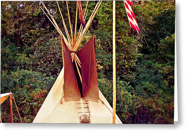Teepee Greeting Card by Marty Koch