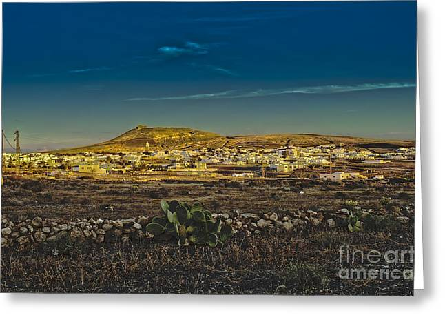 Teguise Village In Lanzarote Greeting Card by Patricia Hofmeester