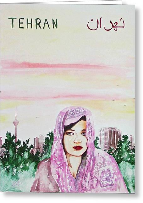 Tehran Greeting Cards - Tehran 2009 Greeting Card by Ken Higgins
