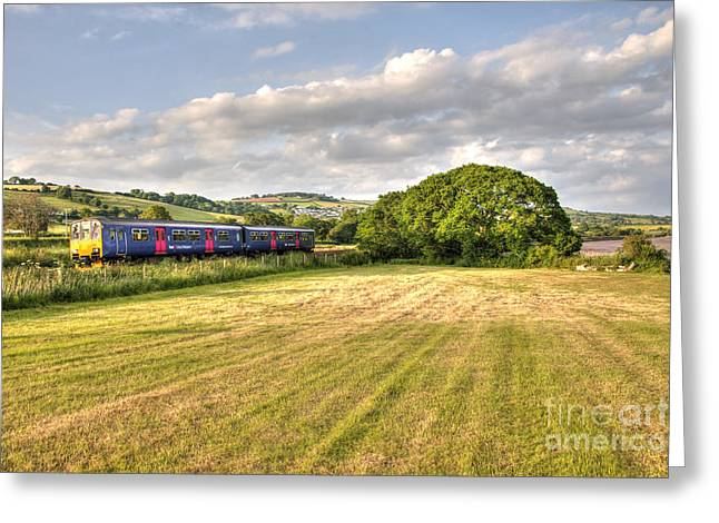 First-class Greeting Cards - Teign Valley Sprinter  Greeting Card by Rob Hawkins