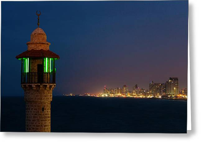 Tels Greeting Cards - Tel Aviv Greeting Card by Alexey Stiop