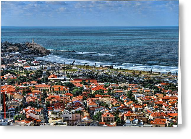 Lookout Greeting Cards - Tel Aviv spring time Greeting Card by Ron Shoshani