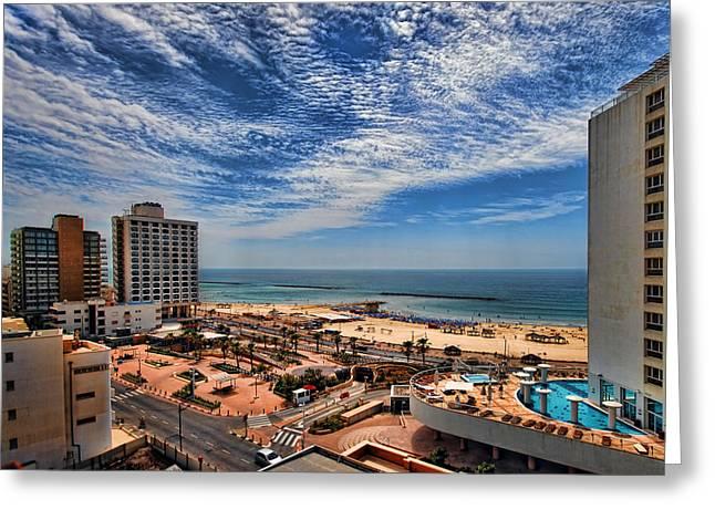 Tel Aviv summer time Greeting Card by Ron Shoshani