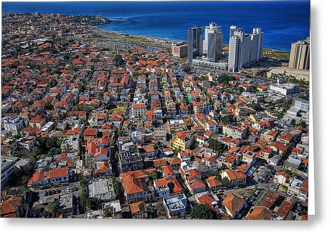 Old City Prints Greeting Cards - Tel Aviv - the first neighboorhoods Greeting Card by Ron Shoshani