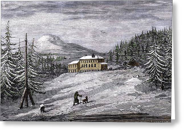Telegraph House Greeting Card by Sheila Terry