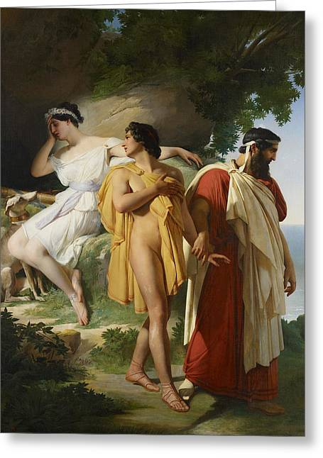 Greek Myths Greeting Cards - Telemachus and Eucharis Greeting Card by Raymond Quinsac Monvoisin