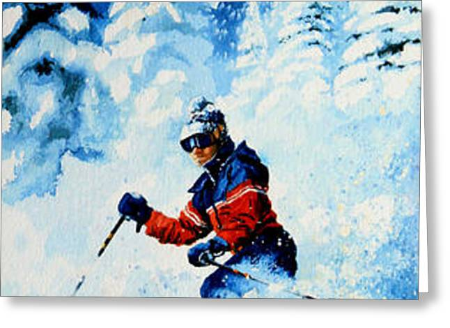Telemark Trails Greeting Card by Hanne Lore Koehler