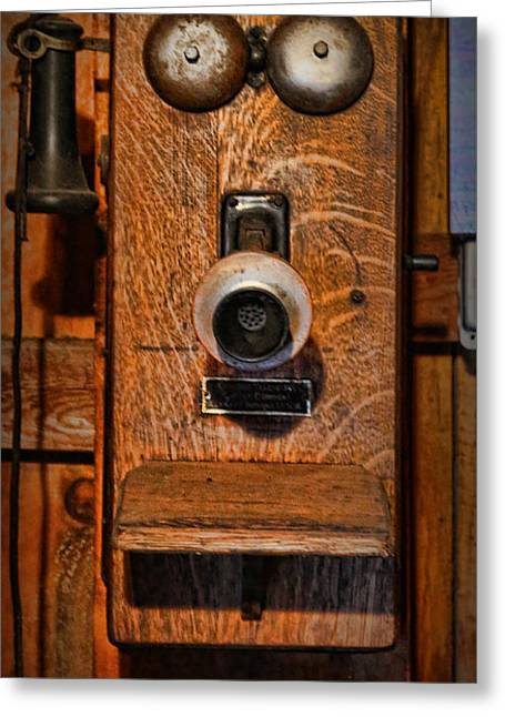 Gift For You Greeting Cards - Telephone - Antique Wall Telephone Greeting Card by Lee Dos Santos