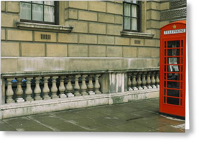 Telephone Booth Greeting Cards - Telephone Booth At The Roadside Greeting Card by Panoramic Images