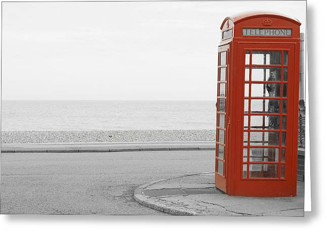 Telephone Booth Greeting Cards - Telephone Booth Greeting Card by Chevy Fleet