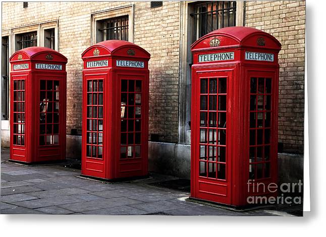 Telephone Booth Greeting Cards - Telephone Choices Greeting Card by John Rizzuto