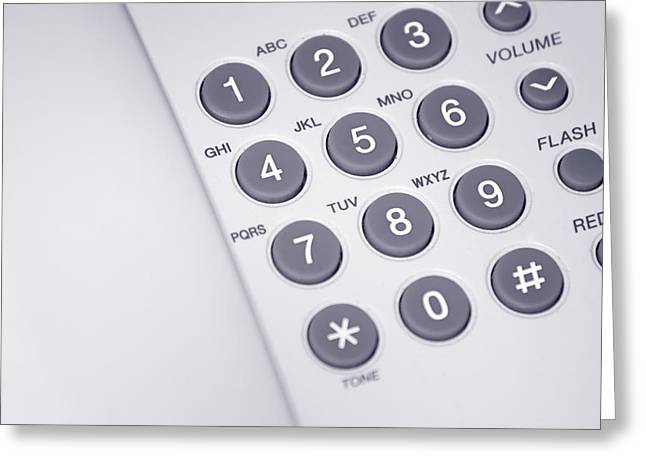 Dialing Greeting Cards - Telephone Greeting Card by GP Images