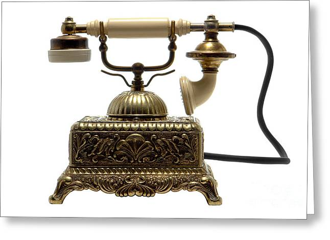 Retro Phone Greeting Cards - Telephone Greeting Card by Olivier Le Queinec