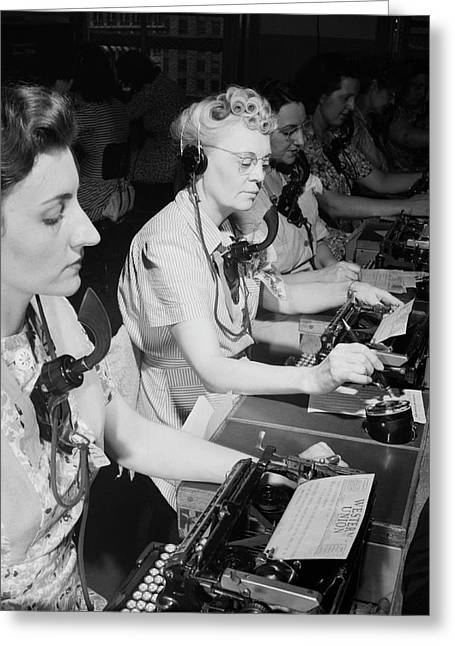 Telephone Operators Greeting Card by Library Of Congress