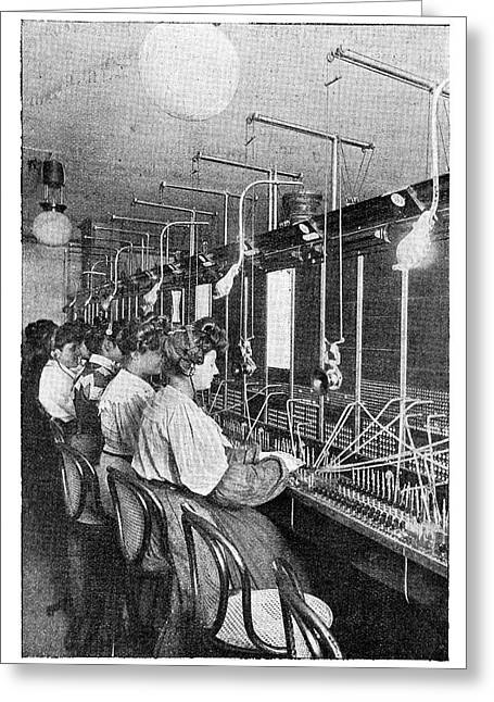 Telephone Operators Greeting Card by Science Photo Library