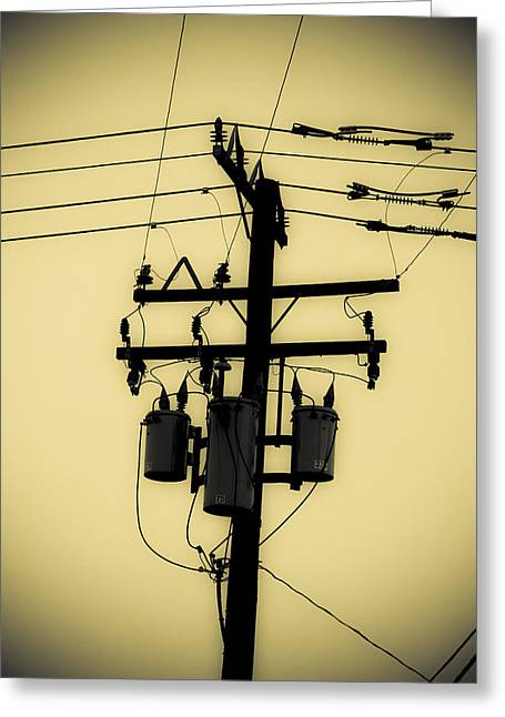 Telephone Pole 3 Greeting Card by Scott Campbell