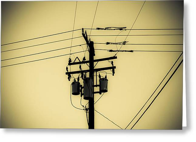 Telephone Pole 4 Greeting Card by Scott Campbell