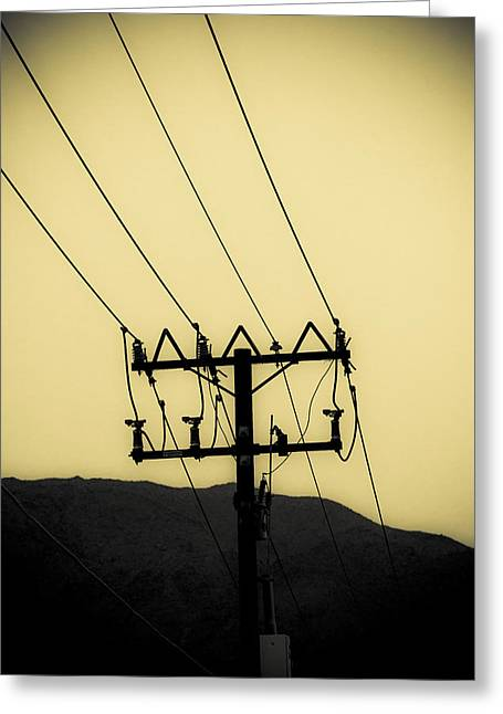 Telephone Pole 6 Greeting Card by Scott Campbell