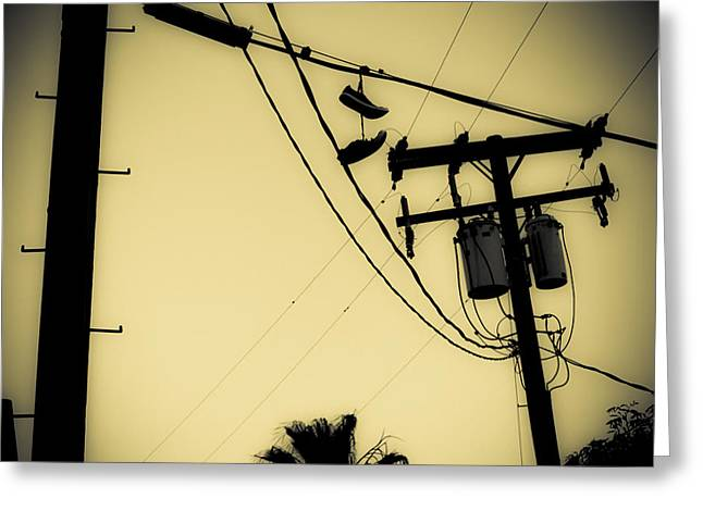 Telephone Pole 8 Greeting Card by Scott Campbell
