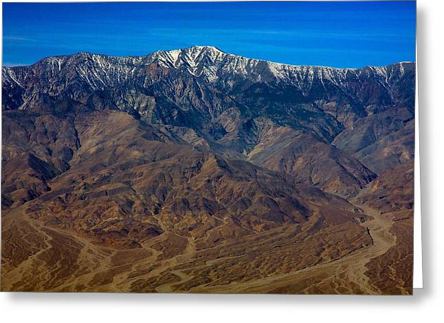 Snow Capped Greeting Cards - Telescope Peak Greeting Card by Stuart Litoff