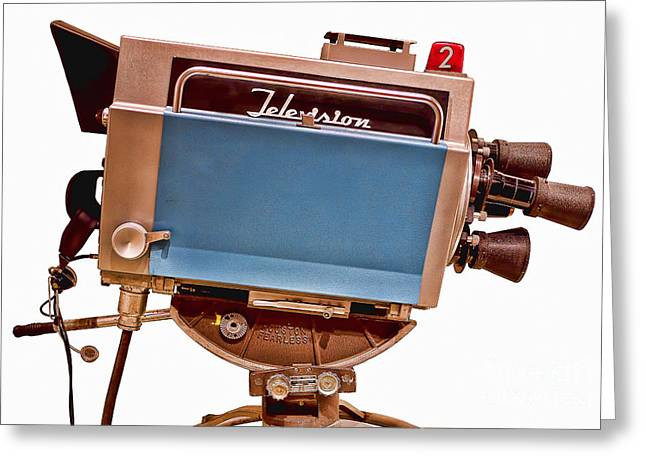 Classic Hollywood Photographs Greeting Cards - Television Studio Camera HDR Greeting Card by Edward Fielding
