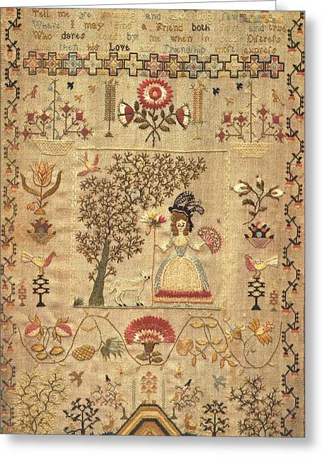 I Tapestries - Textiles Greeting Cards - Tell Me Ye Knowing Greeting Card by Jane Ballard