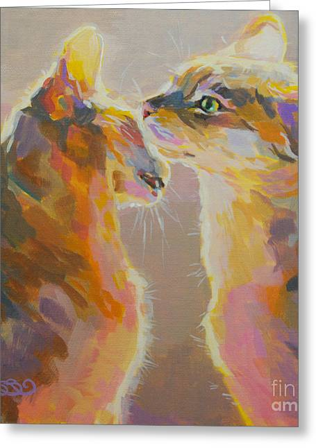 Fawn Greeting Cards - Telling Secrets Greeting Card by Kimberly Santini