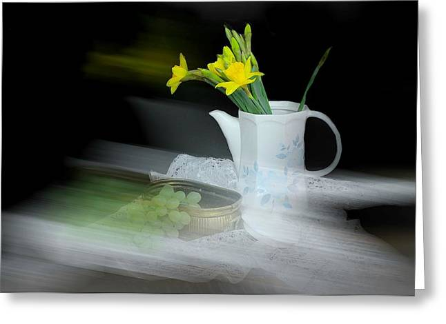 Still Life With Pitcher Greeting Cards - Telling Stories Greeting Card by Diana Angstadt