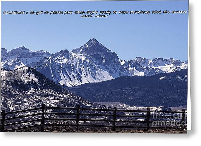 Ski Art Greeting Cards - Telluride Mountain Colorado Greeting Card by Janice Rae Pariza