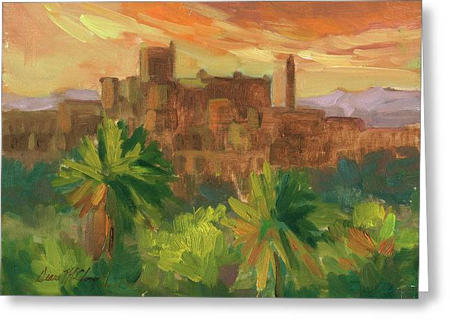 Building. Home Greeting Cards - Telouet Kasbah Greeting Card by Diane McClary