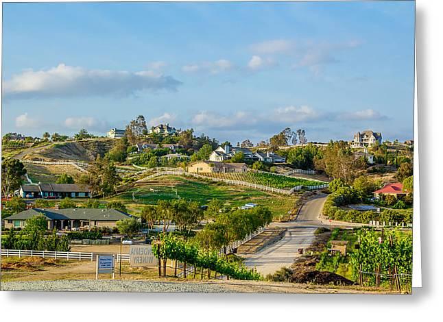 California Vineyard Greeting Cards - Temecula Valley Greeting Card by April Reppucci