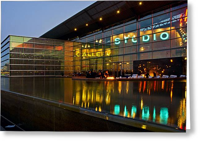 Asu Greeting Cards - Tempe Center for the Arts Greeting Card by Dave Dilli